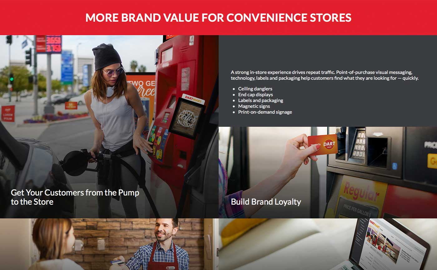 Taylor Corporation Website - Convenience Stores - Award Winning Online Copywriting Projects: Websites - Gene Downs
