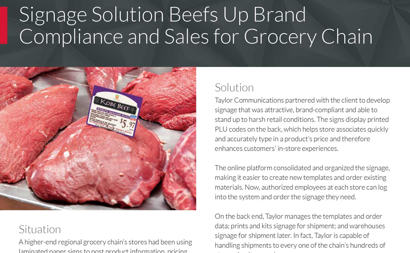 Taylor Corporation – Grocery Store Signage Case Study