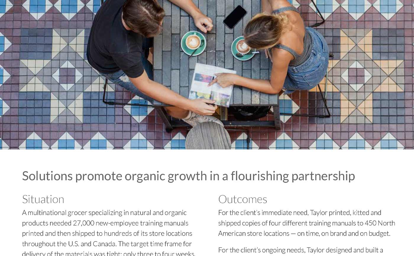 Taylor Corporation – Natural Grocer Print Project Case Study