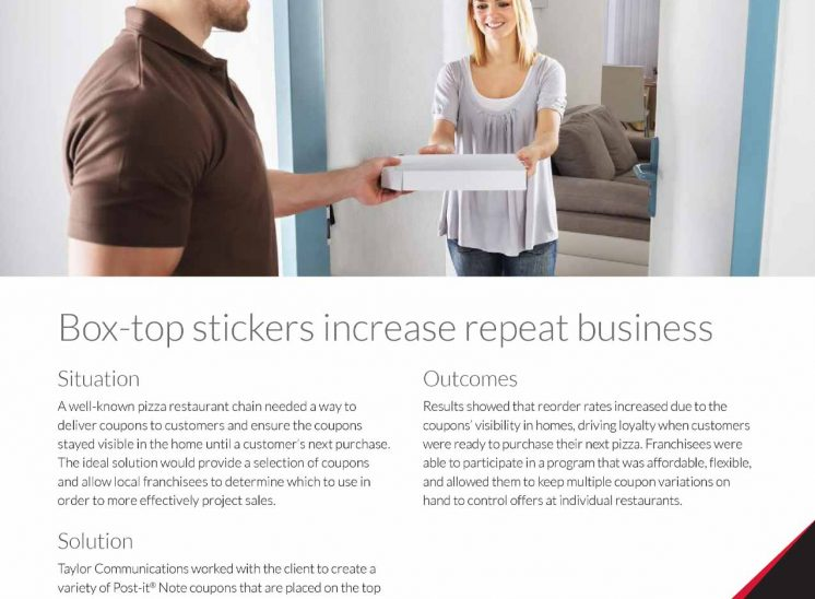 Taylor Corporation – Pizza Chain Post-It Notes Case Study